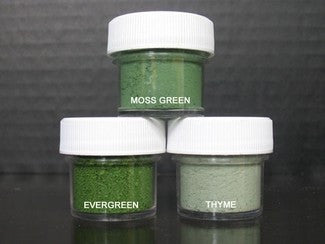 PETAL DUST (SET OF 3) - Moss Green / Evergreen / Thyme