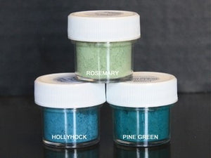 PETAL DUST (SET OF 3) - Rosemary / Hollyhock / Pine Green