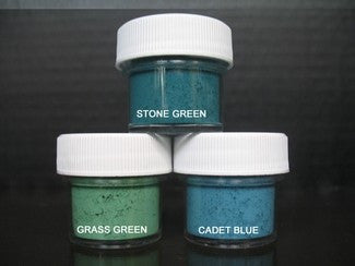 PETAL DUST (SET OF 3) - Stone Green / Grass Green / Cadet Blue