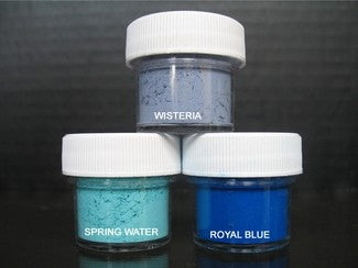 PETAL DUST (SET OF 3) - Wisteria / Spring Water / Royal Blue