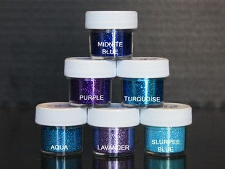 PIXIE DUST (SET OF 6) - Midnight / Purple / Turquoise / Aqua / Lavander / Slurpee