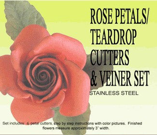ROSE PETAL GUMPASTE CUTTER SET