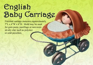 3 DIMENSIONAL ENGLISH BABY CARRIAGE