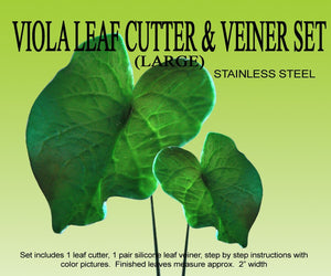 VIOLA LEAF (LARGE) GUMPASTE CUTTER SET