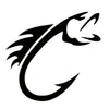 Image of FISHING HOOKS Car Sticker Decal