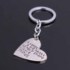 "Image of Great Teacher Gifts "" It Takes a BIG Heart to Help Shape Little Minds"" Silver Keychain"