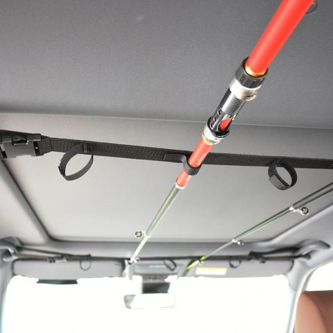 Fishing Vehicle Rod Carrier Rod Holder Belt Strap With Tie Suspenders