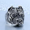 Image of Men's Stainless Steel Pit Bull Dog Ring