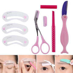 4 in One Set Eyebrow Stencil