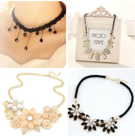 Choose Your Favorites  Four Women's Choker Necklaces