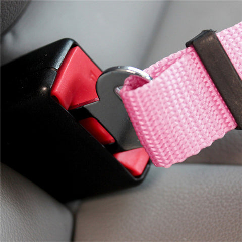 5 Color Dog Pet Car Safety Seat Belt Harness Restraint Lead Leash Travel Clip