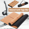 Image of Natural Cork TPE Yoga Mat Non-Slip With Carrying Bag