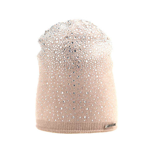 Women's Winter Thick Warm Knitted Wool Beanie Fashion Skullies with Rhinestones