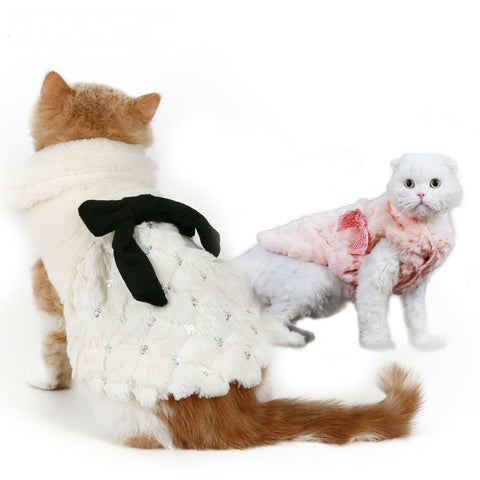 Elegant Luxury Fur Winter Overcoat for Dogs or Cats