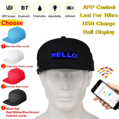 APP Control Bluetooth LED Display Cap