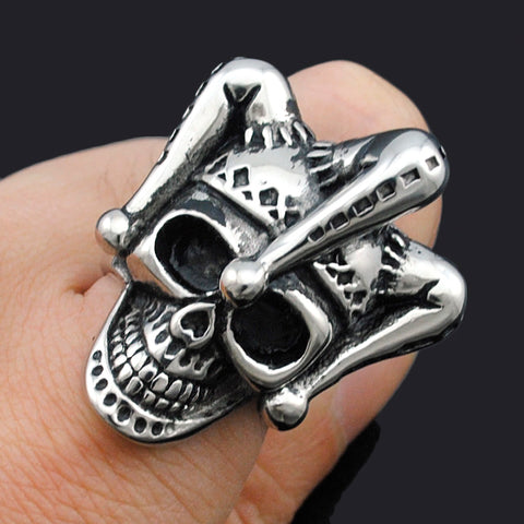 Men's Stainless Steel Jewelry Joker Skull Ring