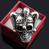 Image of Men's Stainless Steel Jewelry Joker Skull Ring