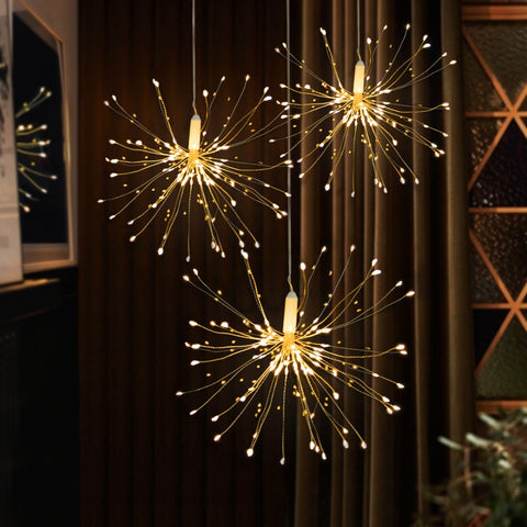 Fireworks Solar String Lights For Garden Decoration LED  Outdoor Solar Lights
