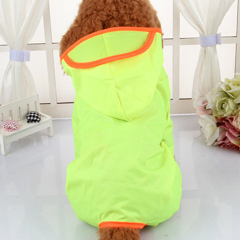 Dog Raincoat Hooded Waterproof Coveralls  for Pets