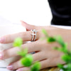 Image of Classic Cross and Crystal Jewelry Adjustable Rings For Ladies
