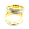 "Image of Stainless Steel Simple Circle ""Love Only You"" Couple Rings"