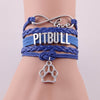 Image of Infinity Love PITBULL Leather Rope Bracelet  Dog Paw Bracelet for Women Men