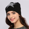 Image of Women's or Girls Star Sequins Warm  Knitted Cotton Beanie Hat