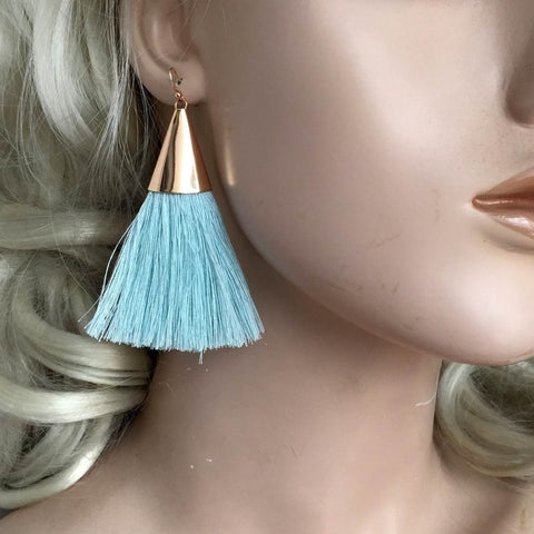 Fashionable Boho Tassel Earrings  Wide Fringed Drop Earrings