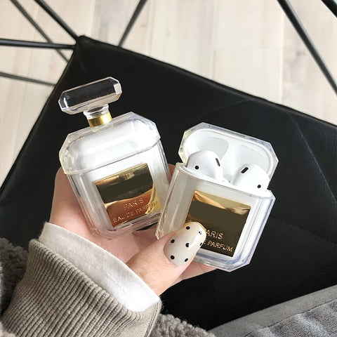 Elegant Perfume Bottle Silicone Case For Airpods