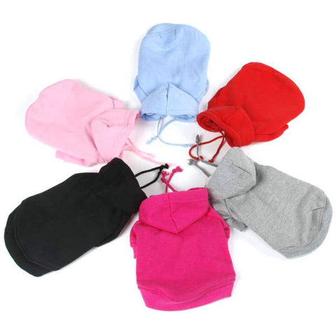 Cat or Dog Hoodies 7 Sizes in  6 Colors