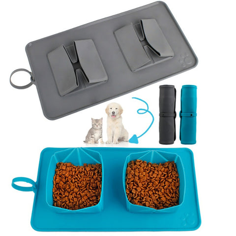 Portable Pet Dog Collapsible Silicone Bowl