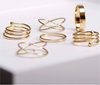 Image of 14K Gold Plated Midi Rings Sets For Women