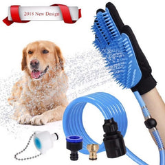 Pets Bathing Shower Tool Dog Sprayer Bathing Massage Glove With Long Hose