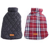 Image of Waterproof Reversible Designer Plaid Warm Winter Coats  Small to Large Dogs