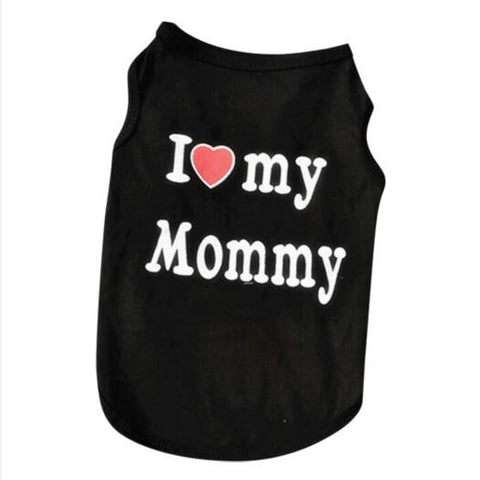 I Love My Mommy - I Love My Daddy Soft Fashion T-shirt  Dogs