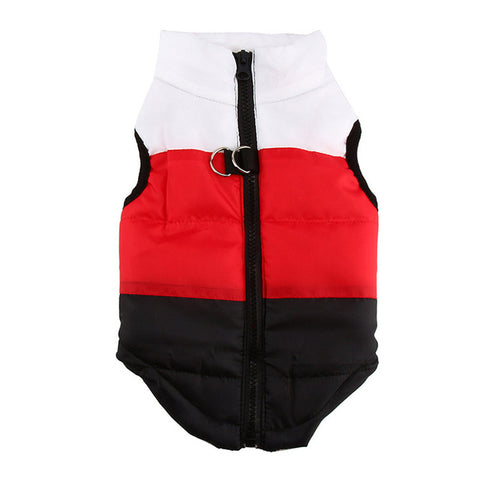 Warm Padded  Windproof Winter Vest Dog Pet Clothing
