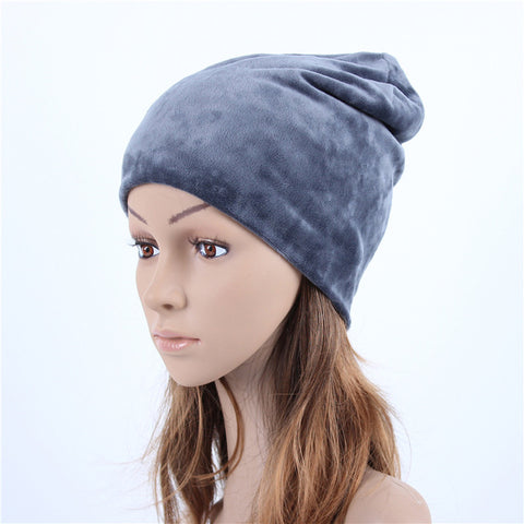 Women's Hat Skullies Beanies Velvet Knitted Hats
