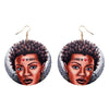 Image of Beautiful Natural  Handmade African Woman Wooden Earrings