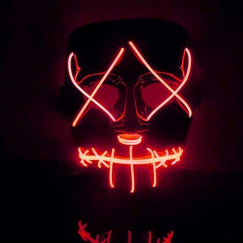 LED Light Up Mask Great for Cosplay Halloween Costumes