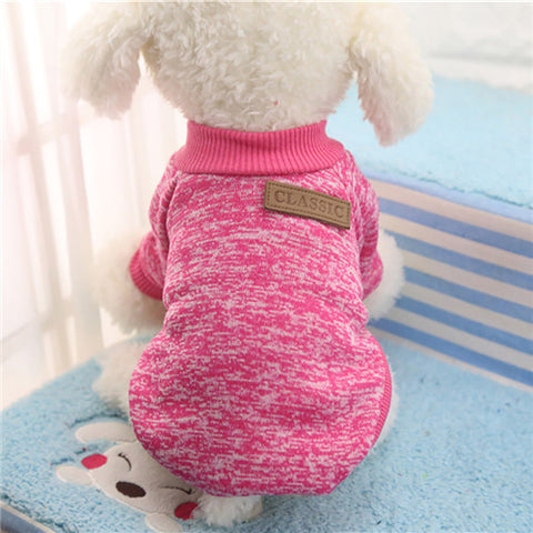 Classic Winter Warm Pet Fashion Soft Sweater Jacket Coat Clothing for Dogs Cats and  Puppies