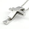 Image of Beautiful Modern Silver Cross Stainless Steel Pendant