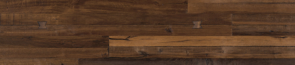 Des Fleurs Rustic Engineered Hardwood with Bow-Tie Inserts