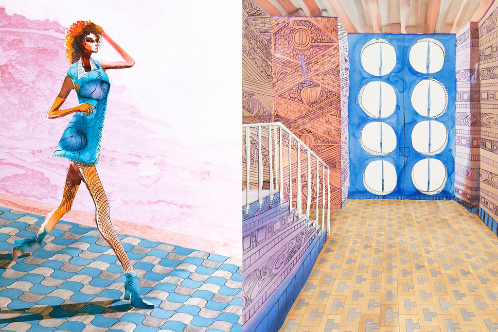 The collection Ingresso comes alive with illustrations by artist Hannah Chan