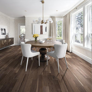 Amarosa Chateau Walnut Hardwood in Modern Dining Room Scene