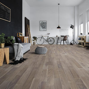 Amarosa Iced Walnut Hardwood in Loft Room Scene