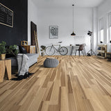 Amarosa Natural Hickory Hardwood in Loft Room Scene