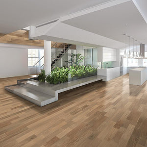 Amarosa Natural Oak Hardwood in Open Space Room Scene
