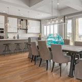 Farmhouse Cabbiavoli European Oak Hardwood installed in this kitchen and dining room