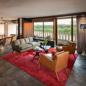 Louis XIV Castillon French White Oak Parquet Hardwood in the Watergate Hotel Presidential Suites