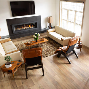 Louis XIV Champagne French White Oak Hardwood in a Calgary residence